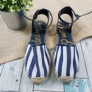 Sam Edelman Blue Stripe Vivian Espadrille Sandals